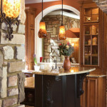 Luxury Homes in Lake Bluff Stone Accents Kitchen